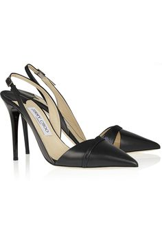 Jimmy Choo | Dense leather and metallic suede pumps | NET-A-PORTER.COM