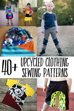 upcycled clothing patterns to sew Use up your knit fabric scraps and sew one of these fun upcycled sewing patterns! Great upcycle potential with patterns and options for all ages. Sewing Patterns Free, Clothing Patterns, Clothing Templates, Sewing Hacks, Sewing Tutorials, Sewing Tips, Sewing Ideas, Sewing Crafts, Leftover Fabric