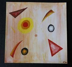 Carte de voeux peinture abstraite inspiration Kandinsky : Cartes par cat-crea