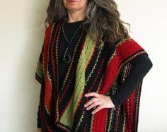 "Crochet Ruana Poncho PATTERN / Lightweight Blanket Wrap / Made in Canada / ""Beechmont Ruana"""