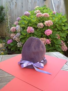 Rolled brim ribbon hat for Click for Babies Charity