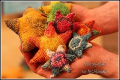 Stuffed Stars  Knitted stars for mobile by KnitographyByMumpitz, kr15.00