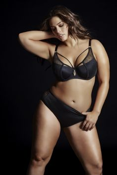 Ashley Graham DIVA DEMI CUP BRA For a dramatic 'meant to be seen' look, just strut in this captivating bra with sexy straps running up the neckline.