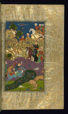 Bahrum Gur kills a wild ass - Haft Paykar pic