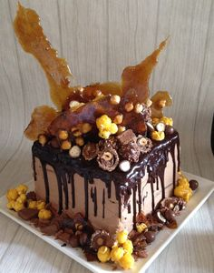 Chocolate cakes, Birthday cakes and Chocolate ganache on Pinterest