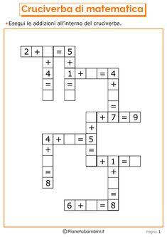 Giochi di Matematica sulle Addizioni per Bambini da Stampare | PianetaBambini.it Kindergarten Reading Activities, Numbers Kindergarten, Kindergarten Math Worksheets, Teaching Math, Math Activities, Mental Maths Worksheets, 1st Grade Worksheets, 1st Grade Math, Math Resources