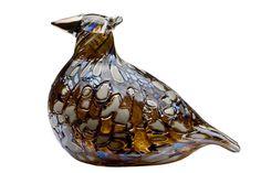 oiva-toikka designed this-ruffed-grouse. Glass Museum, Dark Autumn, Birds And The Bees, Scandinavian Art, Owl Bird, Glass Birds, Sculpture, Nordic Design, Glass Collection