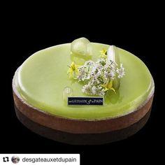 #Repost @desgateauxetdupain (@get_repost) @bakelikeapro  L'iconique vert absinthe de #clairedamon est de retour dans nos boutiques #tomateverte #citronvert #menthe #angeliquedauvergne