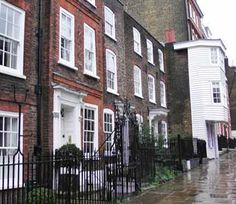 A view of some of the houses on Church Row in Hampstead.