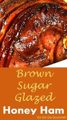 No need to get out the crockpot, this Honey Ham is baked right in the oven! This easy ham makes cooking Thanksgiving dinner a breeze! You'll never need to go looking for ham recipes again. The brown sugar adds just the right amount of sweet, and you could Ham Glaze Brown Sugar, Honey Baked Ham Recipe Brown Sugar, Honey Baked Ham Glaze, Honey Mustard Ham Glaze, Crockpot Brown Sugar Ham, Smoked Ham Glaze, Best Ham Glaze, Thanksgiving Dinner Recipes, Thanksgiving Nails