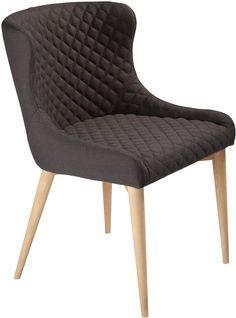 Vetro stoel zwart / eiken - Dan-Form