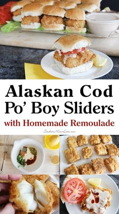 With holiday entertaining still in full swing, I've got a delicious, crowd-pleasing recipe for you.  Alaskan Cod Po' Boy Sliders with Homemade Remoulade #AskForAlaska #IC @AlaskaSeafood (ad)