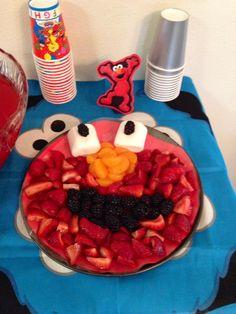 Elmo fruit plate!
