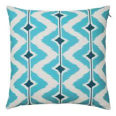 PAPAYA fabric outdoor cushion in blue / white 40 x 40cm