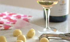 Champagne White Chocolate Truffles  | Baking Bites