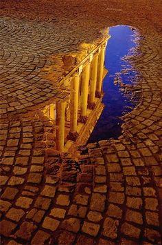 New Wonderful Photos: Reflected Columns, Rome, Italy