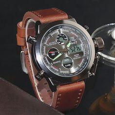 3befc31eb32 Watches Men Luxury Brand AMST Dive LED Digital Watches Sport Military  Genuine Quartz Watch Men Relogio Masculino
