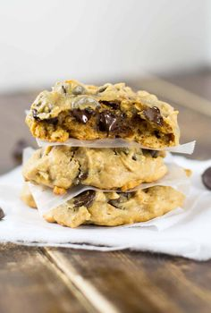 chocolate chip peanut butter oatmeal chocolate chip cookies