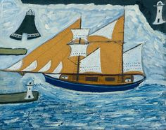 Alfred Wallis, 'The Blue Ship' ?c.1934