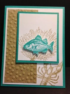 By the Tide, Masculine Card, Stampin' Up!, Rubber Stamping, Handmade Cards by carlene