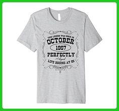 Mens This Legend Was Born in October 1957 60th Birthday T Shirt XL Heather Grey - Birthday shirts (*Amazon Partner-Link)