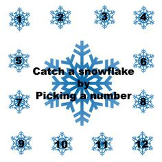Catch a snowflake!! Pick a number and I'll send you a message! www.candicenava.scentsy.us
