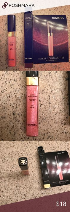 Chanel Levres Scintillantes Glossimer Travel size Color 131 Mica really pretty pink , I have two of them, brand new in box CHANEL Makeup Lip Balm & Gloss