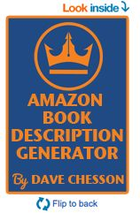Free Amazon Book Description Generator Tool - you just select on screen how you want it and DONE! https://kindlepreneur.com/amazon-book-description-generator/