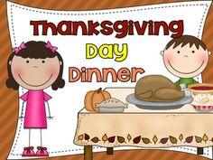 Thanksgiving Dinner Craftivity and Writing Center