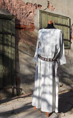 Lněné šaty - přírodní   Zboží prodejce may d25cfae966
