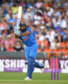 Rohit Sharma Photos - Rohit Sharma of India bats during the Royal London One-Day International match between England and India at Headingley on July 2018 in Leeds, England. India - ODI: Royal London One-Day Series One Day Cricket, Cricket Update, Cricket Bat, Cricket Sport, Cricket World Cup, Cricket News, Freedom Fighters Of India, Ms Dhoni Wallpapers, India Cricket Team