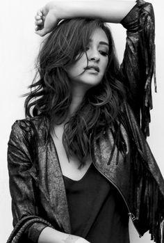 Shay Mitchel ; Black & White ~Photoshoot