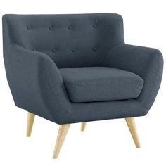 Amazing offer on Divano Roma Furniture Mid-Century Modern Style Sofa/Love Red, Yellow, 3 Seat (Grey Blue, 1 Seater) online - Melyssarubyclothing Living Room Accents, Accent Chairs For Living Room, Mid Century Modern Living Room, Mid Century Modern Furniture, Modern Armchair, Modern Chairs, Modern Ottoman, Blue Accent Chairs, Black Chairs
