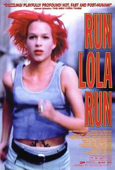 Run Lola, run (1998). A young woman in Germany has twenty minutes to find and bring 100,000 Deutschmarks to her boyfriend before he robs a supermarket.