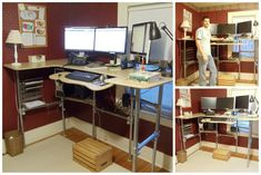 Ergonomic Computer Desk - Converted to Standing Desk