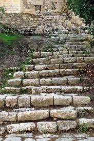 Steps going down to Gethsemane, Jerusalum/ BIBLE IN MY LANGUAGE