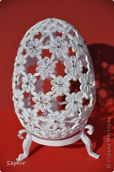 Hack, product Quilling, Simulation: The egg daisy with rhinestones Swarovski paper strips Easter.  Photo 1