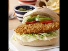 Parmesan and Herb Breaded Chicken Breast Hoagie