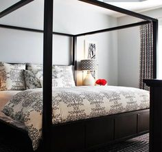 Wayfair.com - could use toile bed set and curtains b&w houndstooth curtains