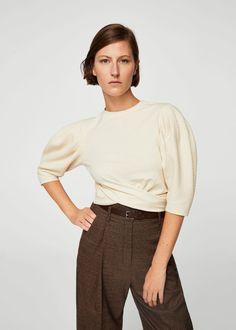Puffed sleeves t-shirt - Women   MANGO USA