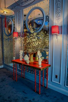 Soane Rivoli console in David Collins entry at the 2016 Kips Bay Decorator Show House