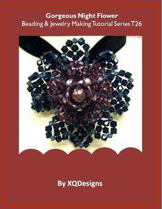 Gorgeous Night Flower  Beading & Jewelry Making Tutorial (Beading Kit Available)