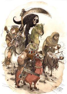 Les quatre chevaliers - Boulet