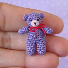 *** This is a PDF CROCHET PATTERN and NOT the finished item ***  This is an original crochet pattern to make a miniature Matchbox Bear. The bear