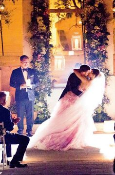 Justin Timberlake and Jessica Biel's wedding - I don't really know anything about them but that pink dress looks gorgeous