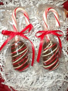 Hot Chocolate Dippers Chocolate Covered Marshmallows Candy Cane Marshmallow Pops Holiday Party Favors Hostess Gifts Stocking Stuffers. $10.00, via Etsy.