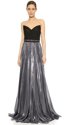 Pleated Combo Gown http://picvpic.com/women-dresses-evening-formal-dresses/pleated-combo-gown#Anthracite
