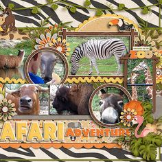 Summertime Fun - At The Zoo by Jady Day Studio  Cindy's Layered Templates - Double It Up Set #7 by Cindy Schneider