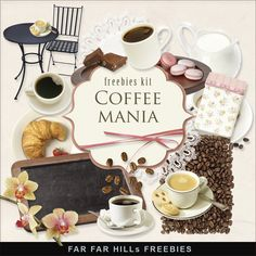 New Freebies Scrap Kit  - Coffeemania:Far Far Hill - Free database of digital illustrations and papers