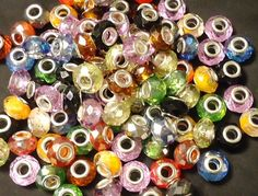 '25 Faceted Crystal Big Hole Beads' is going up for auction at 12pm Sun, Dec 16 with a starting bid of $5.